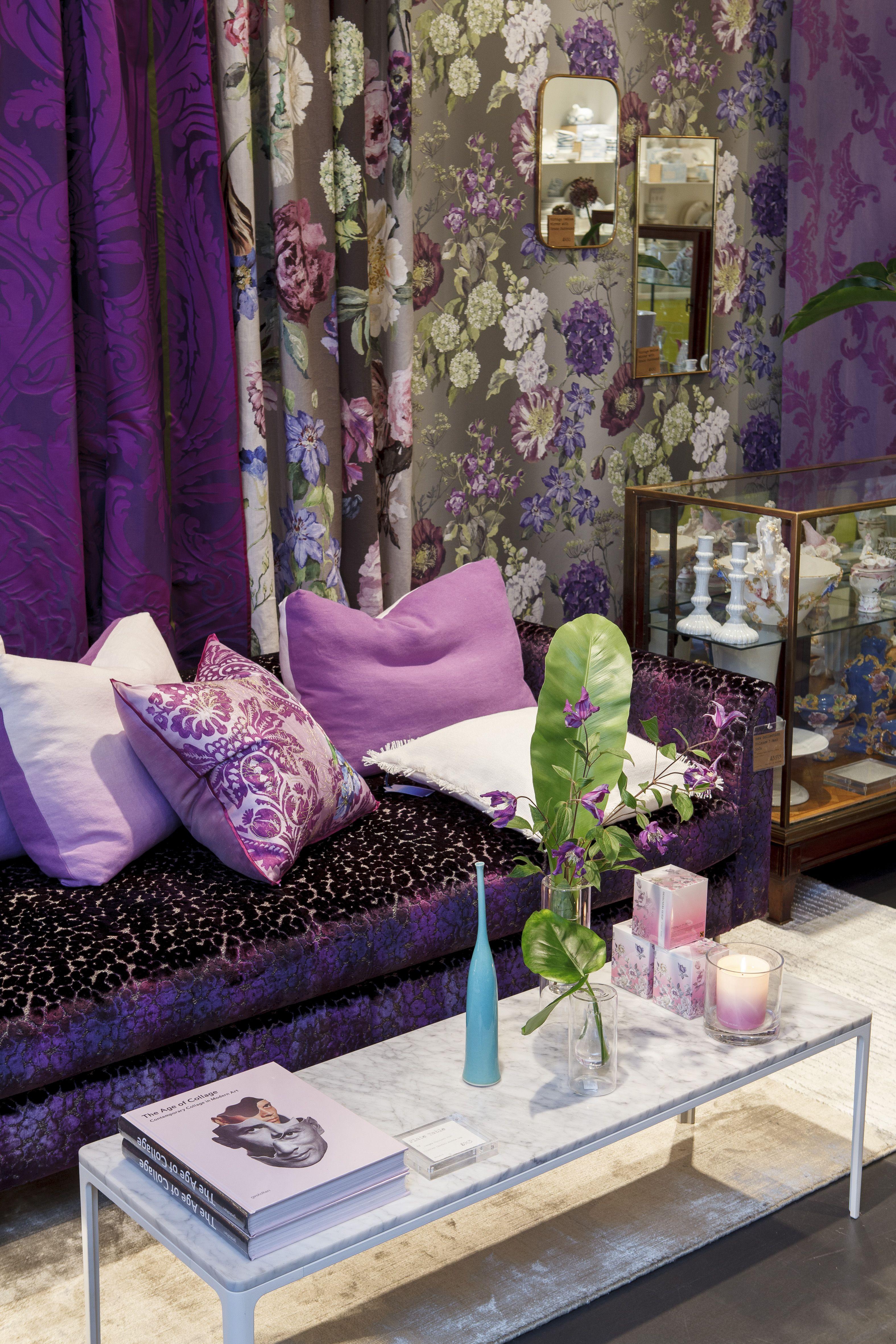 D coration int rieure salon living room maison violet - Decoration living couleurs ...