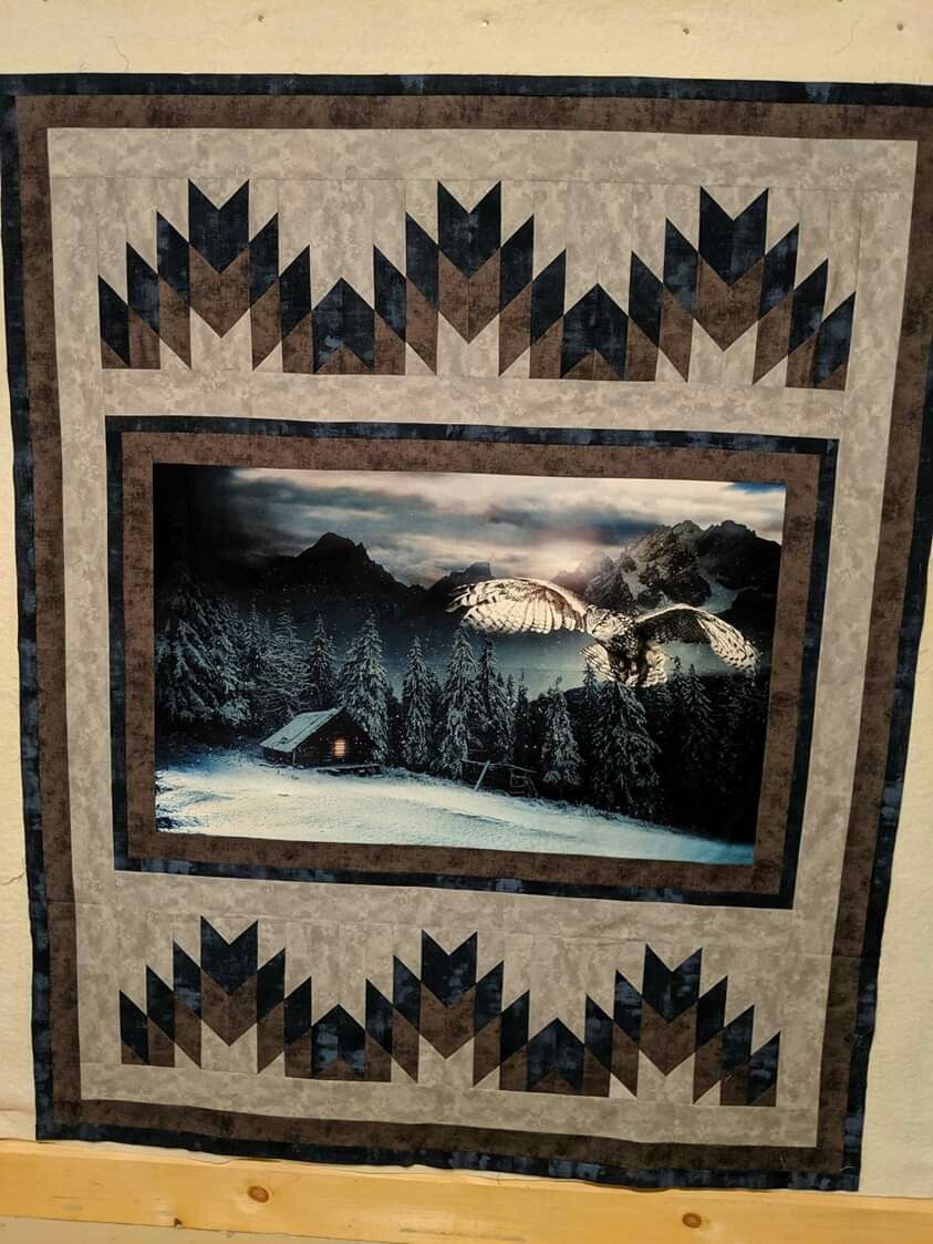 Looking for Friends Black 24 x 44 PANEL | Cat quilt