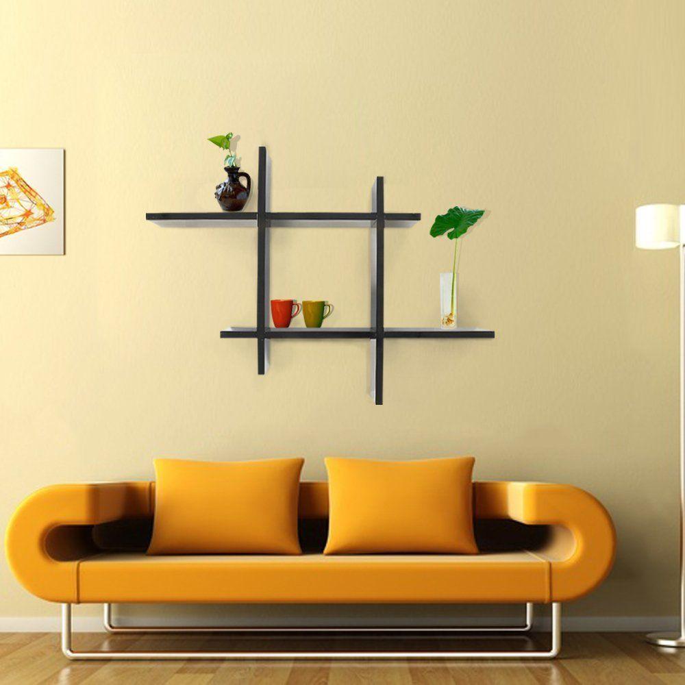 Homdox wall shelf cross display bedroom decorative wooden wall
