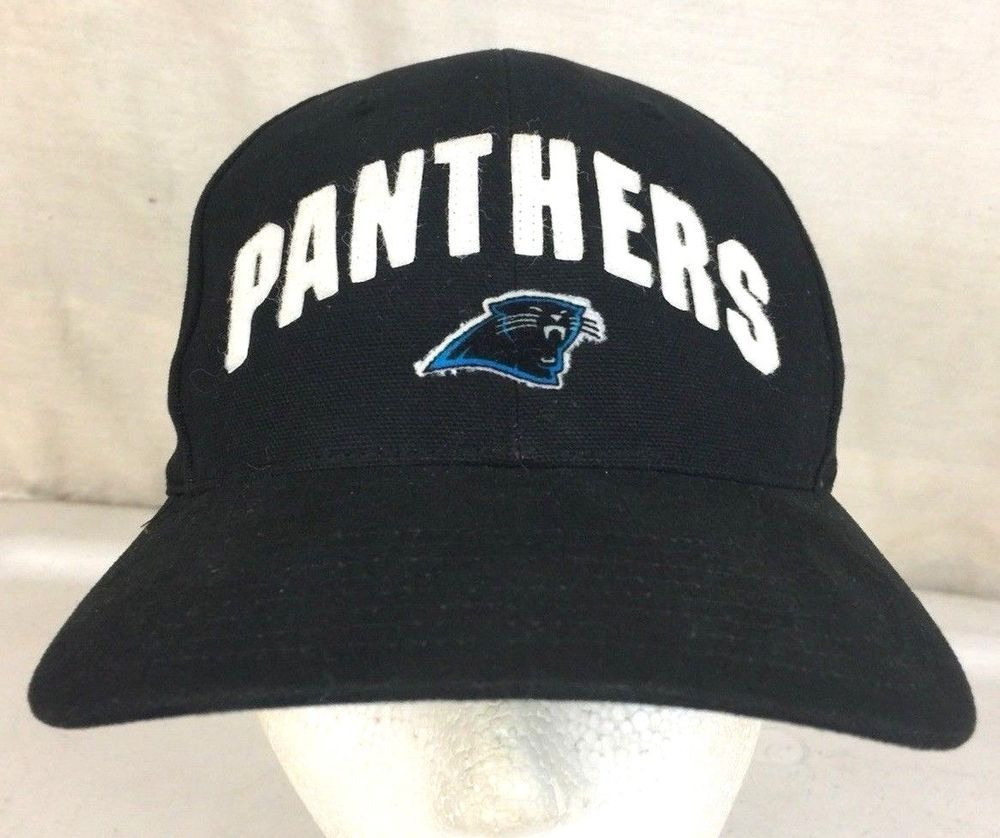 Carolina Panthers Hat Cap NFL Black Vintage Strapback 1990 s Nike  Nike   CarolinaPanthers e4ae86012484