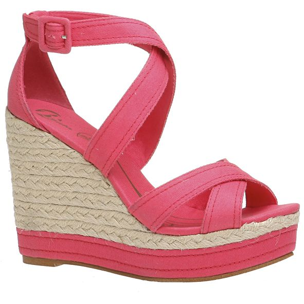 a28795c30d9 Bata sandal with fabric upper and wedge rope with fabric insert ...