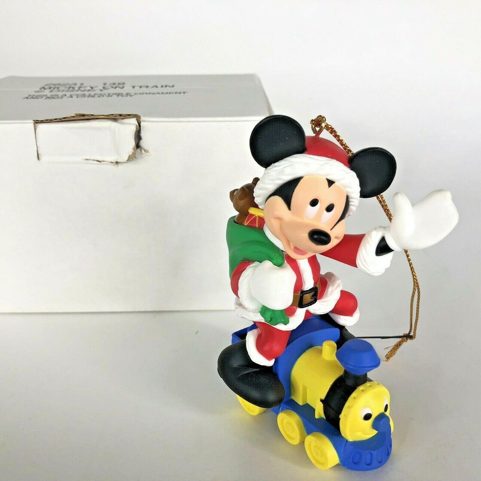Disney Grolier Mickey Mouse On Train Christmas Magic Ornament Etsy Disney Christmas Ornaments Mickey Mouse Ornaments Christmas Magic
