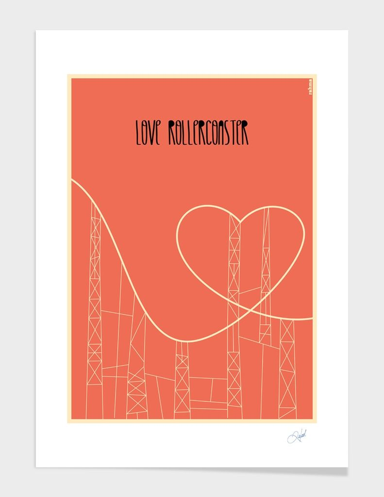 """Love Rollercoaster"" - Art Print - Rahma Projekt | Curioos | The Digital Art Factory | Limited Edition Prints, Art Skins & Accessories"
