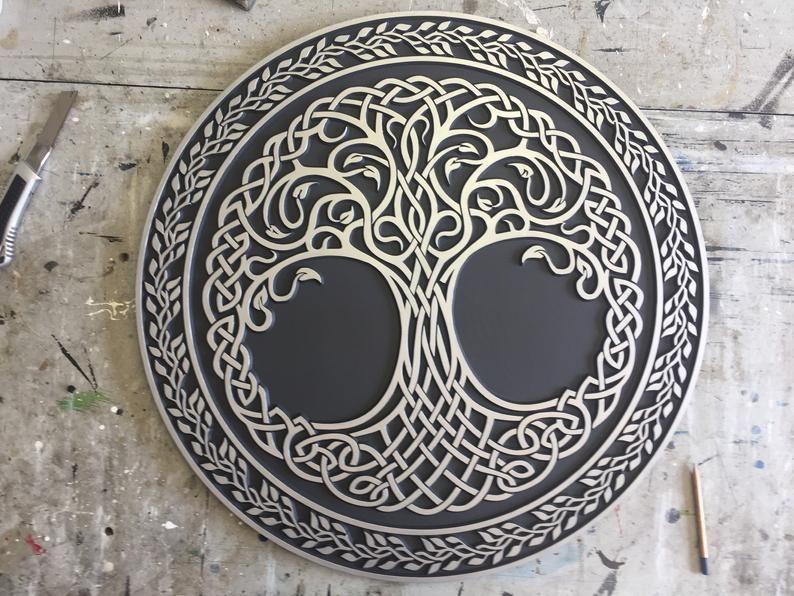 Celtics Tree Of Life 27 Inch Dia Silver Carved Wall Art Yggdrasil Viking Wall Art Celtics Norse Mythology Housewarming Gif Carved Wall Art Yggdrasil Tattoo Etsy Wall Art