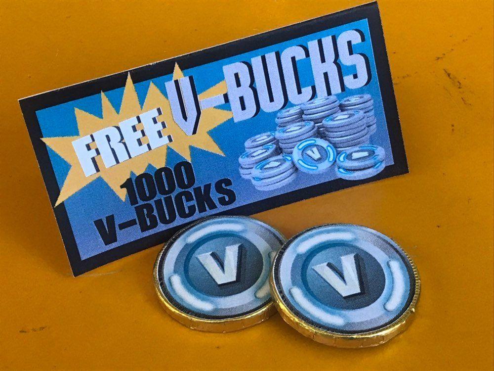 graphic relating to V Bucks Printable called Fortnite social gathering V buck Like tags,V buck chocolate printable