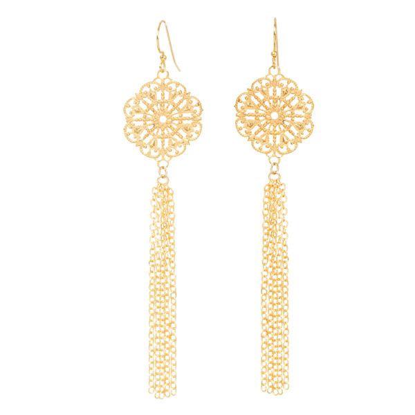 Chantilly Lace Fringe Earrings