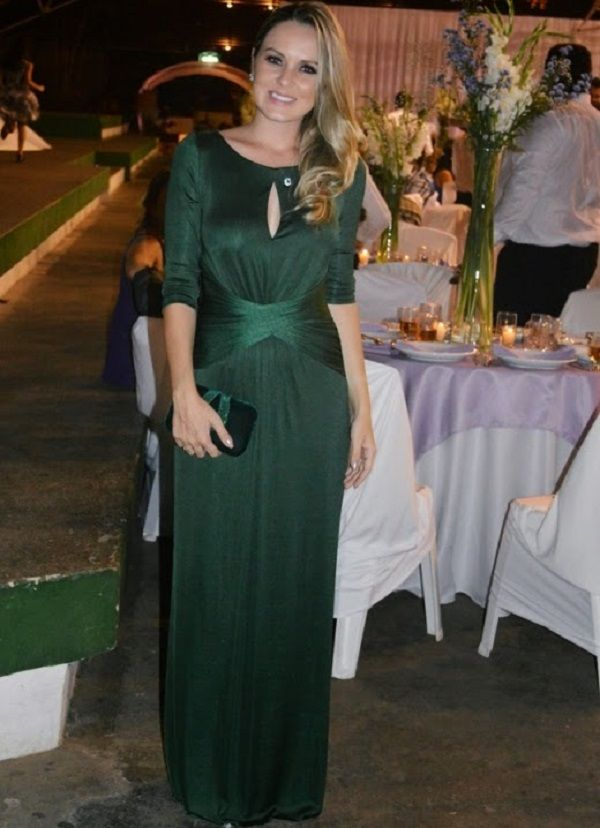 Vestidos de festa de casamento curto verde