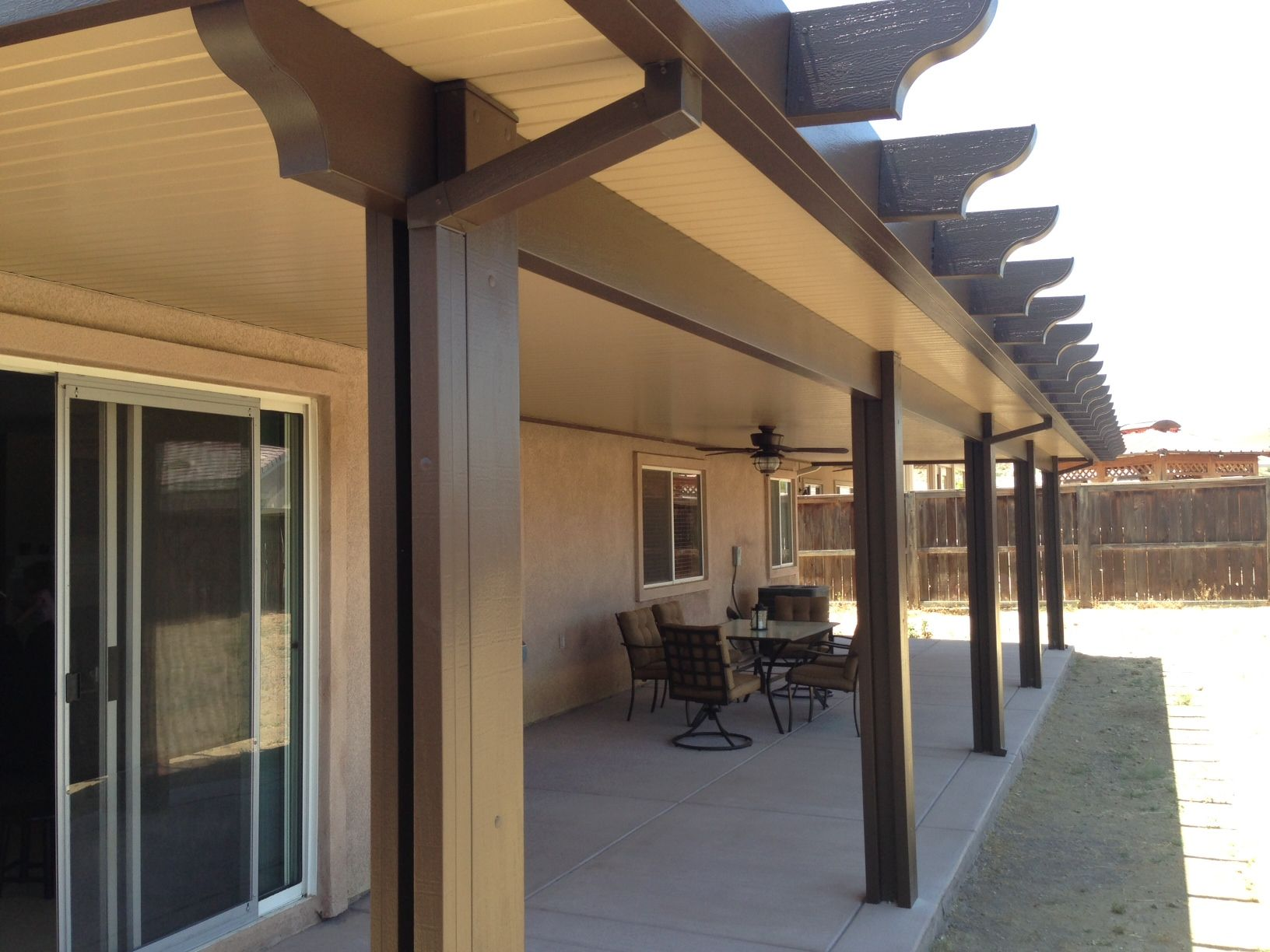 Beautiful Two Toned Alumawood Patio Cover I GreenBee