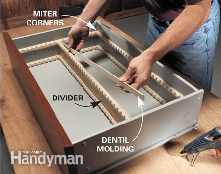 DIY: How To Create Drawer Dividers   Using Dentil Molding And Mull Strips,  You Can Easily Make Custom Dividers To Organize Your Drawers In The Kitchen,  ...