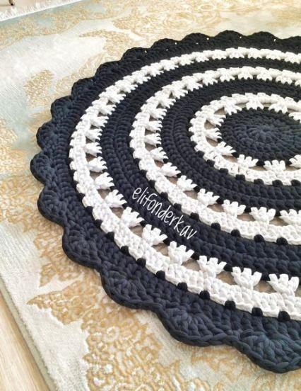Crochet mandala pattern rug beautiful 58 ideas #crochetmandalapattern