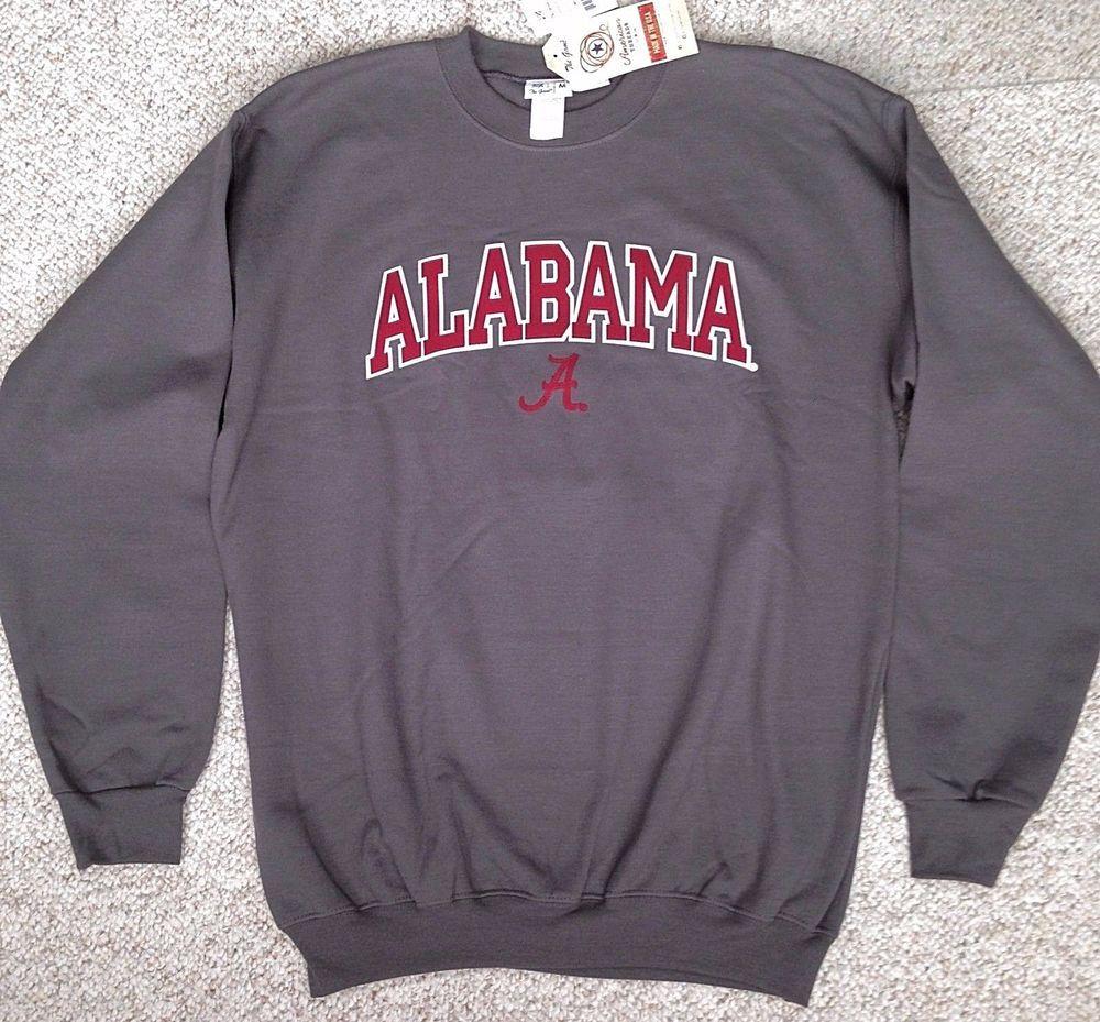 Med New 40 University Of Alabama Crewneck Sweatshirt Gray Red Sewn Crew College Sweatshirt Outfit College Sweatshirts Hoodie Sweatshirts [ 929 x 1000 Pixel ]