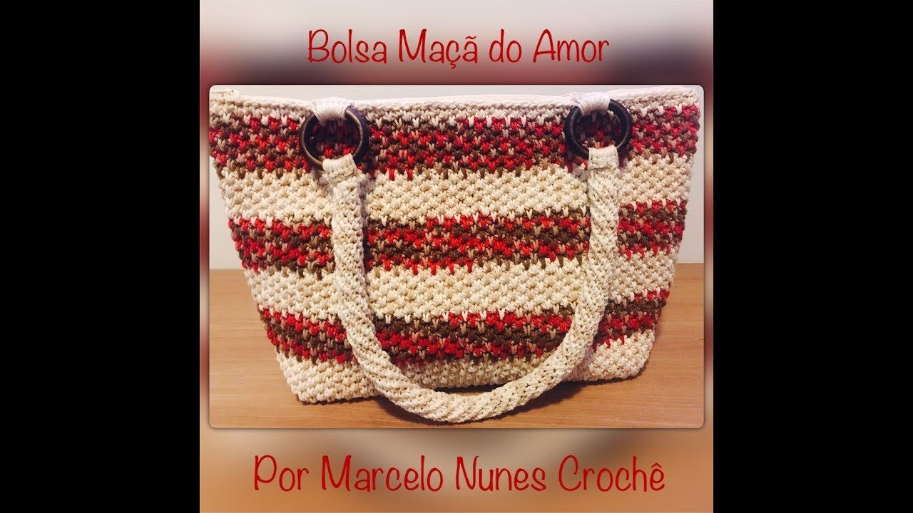 Bolsa Maçã do Amor - por Marcelo Nunes | Bolsas e sapatos em crochê ...