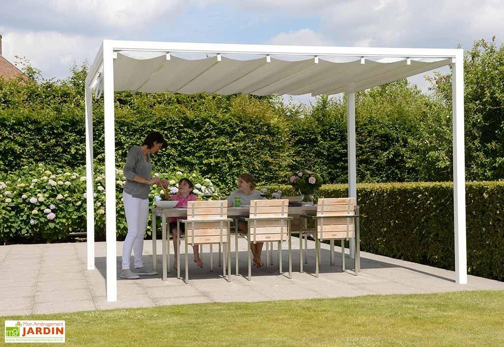 pergola en aluminium prostor cabana 3 50 x 3 50 m toile pvc