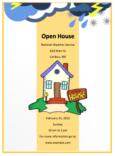 Open House Flyer Template  Free Flyer Designs    Open