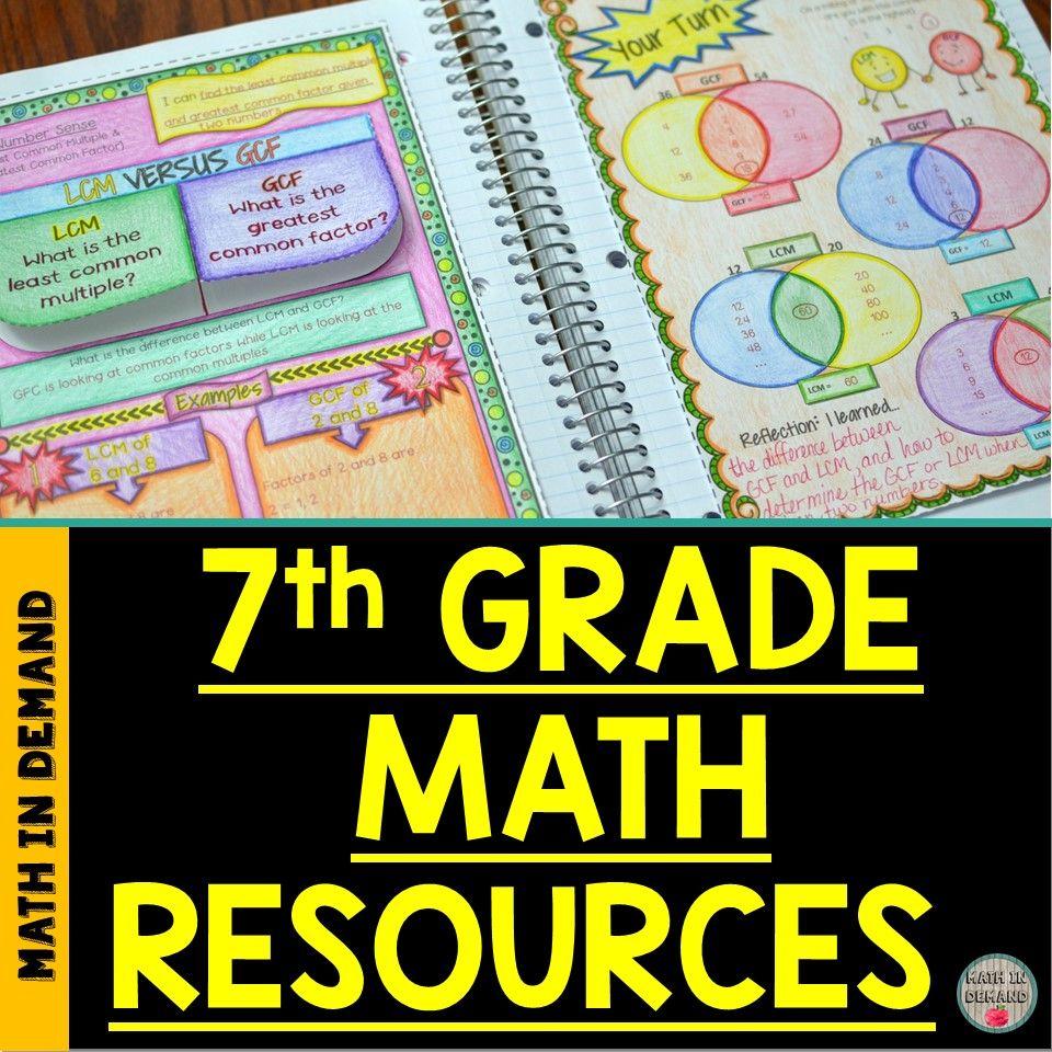 7th Grade Math Resources Math Interactive Notebook 7th Grade Math Math Resources [ 960 x 960 Pixel ]