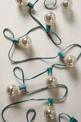 Anthropologie Mercury Glass Bulb Lights #anthrofave #anthropologie