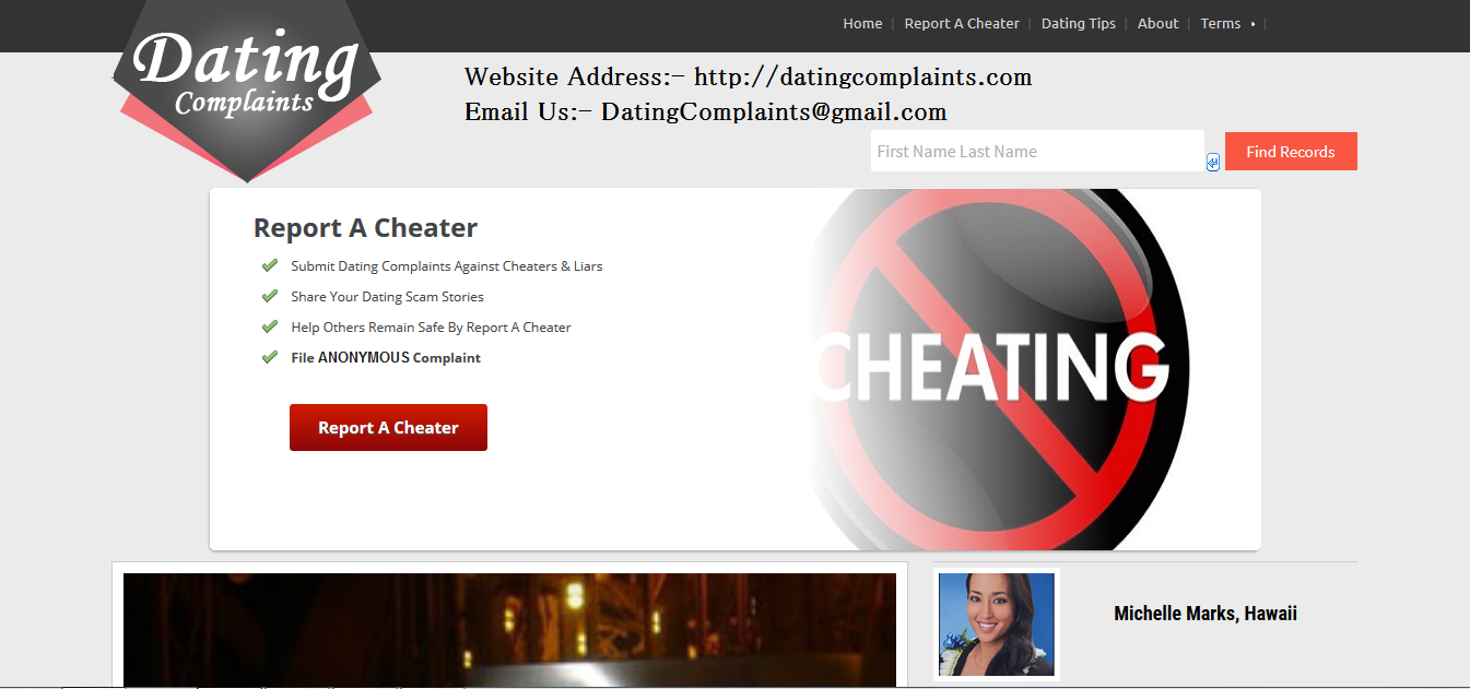 Websites that expose cheaters