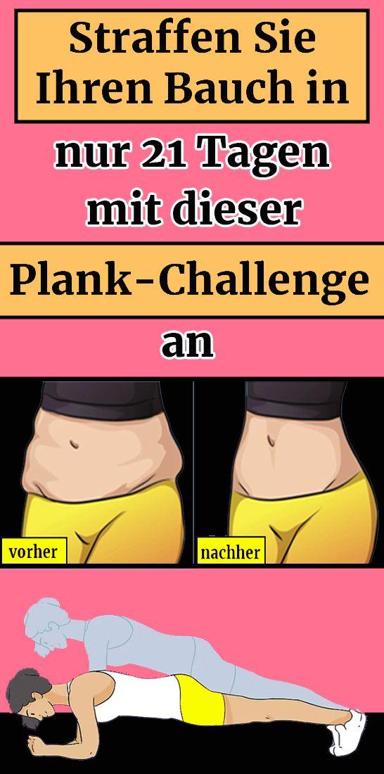 Straffen Sie Ihren Bauch in nur 21 Tagen mit dieser Plank-Challenge an #workoutchallenge