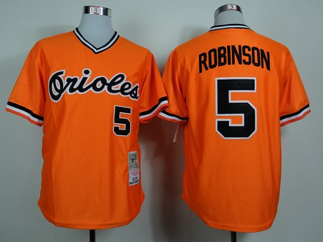 MLB Baltimore Orioles 5 Brooks Robinson Orange 1975