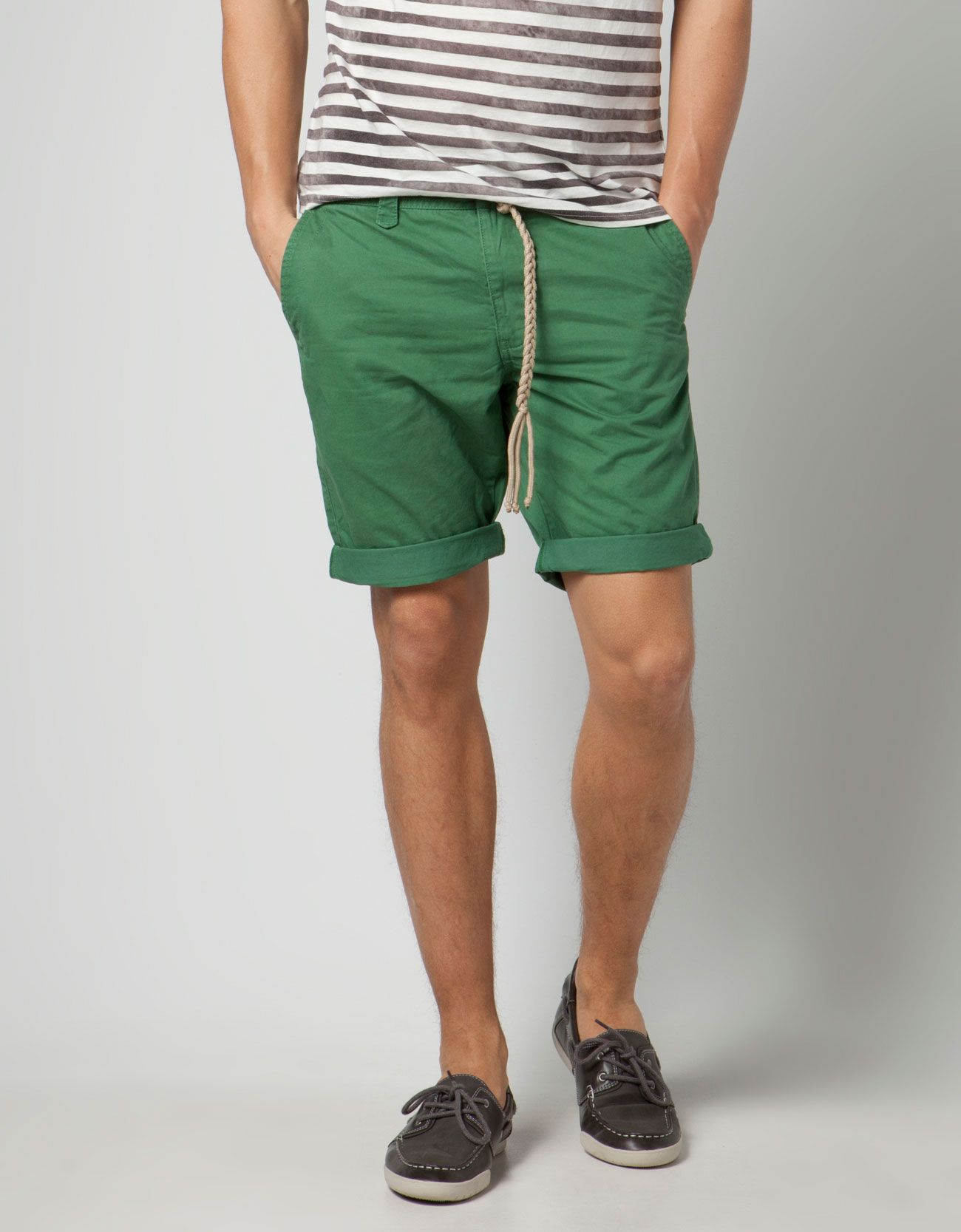 5fbb58beef Green Bermudas with cord belt from Bershka. Cute! | The Fashion Side ...