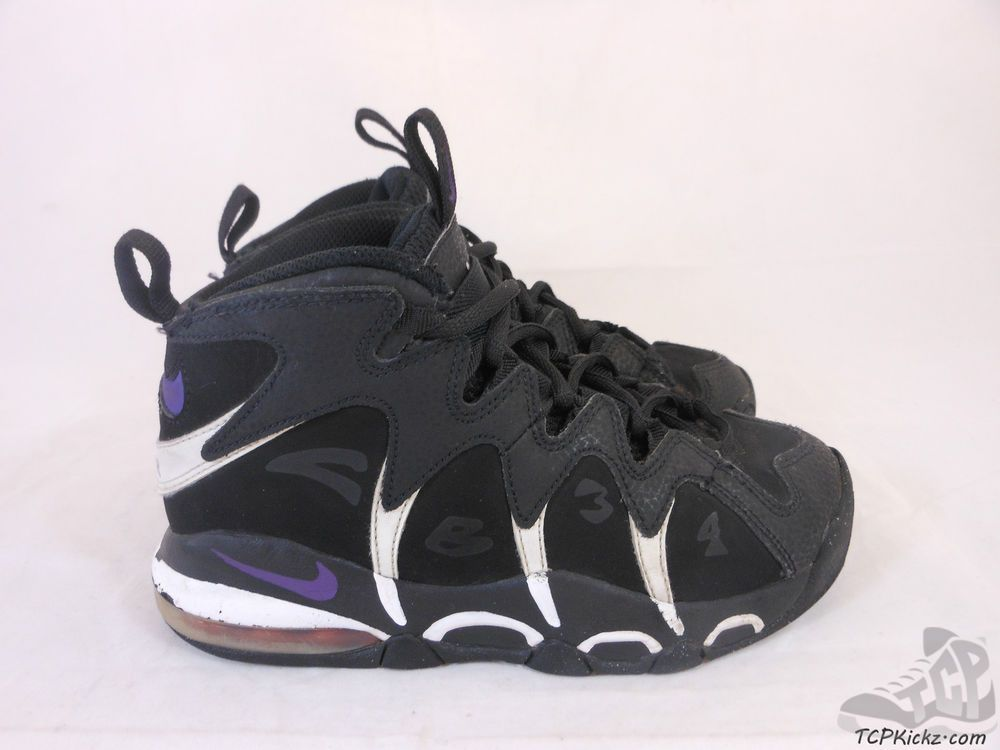 Vtg OG 2010 Nike Air Max CB 34 sz 1.5y I Charles Barkley Retro Black Purple  #Jordan #Athletic #tcpkickz