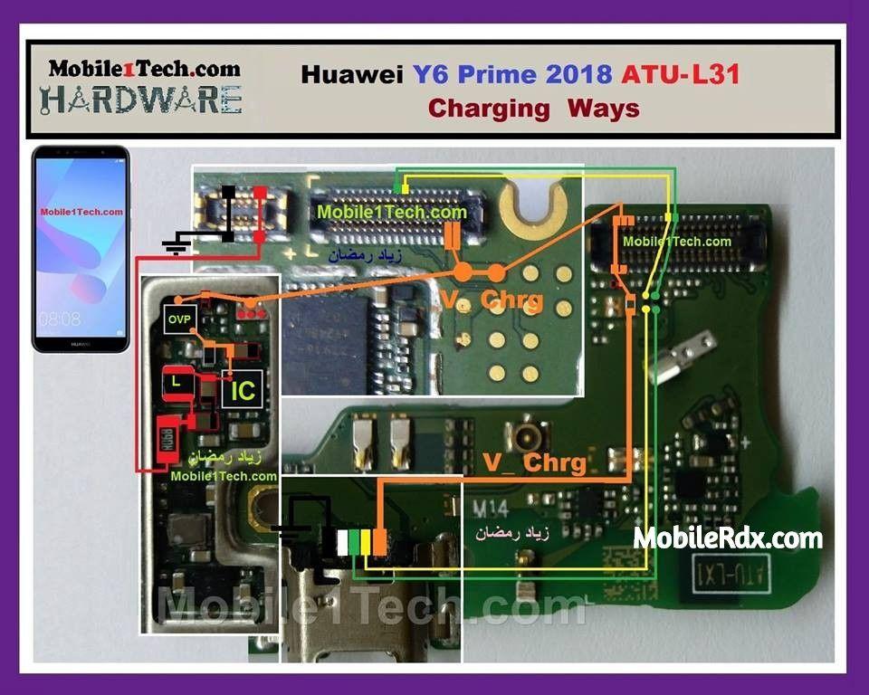 Huawei Y6 Prime 2018 Charging Ways And Usb Jumper Huawei Y6 Prime Atu L31 Charging Solution Not Charging Problem U Huawei Mobile Phone Repair Smartphone Repair