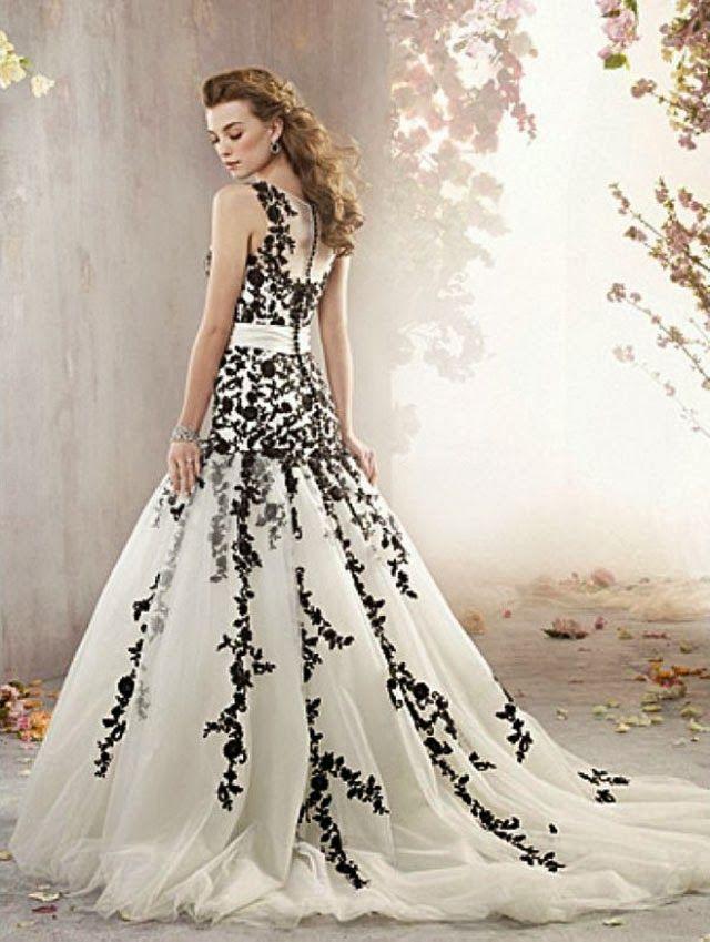 Sleeveless A Line Wedding Dress With Black Lace Corset