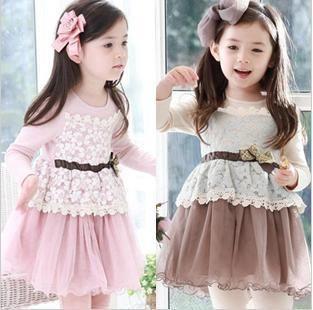2013 spring Korean children's clothing lace Sasa splicing ... Korean Toddler Clothes