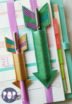 Digital Download - Planner Band Arrow Pen Holder (2 Sizes & 2 Styles) #craftstosell