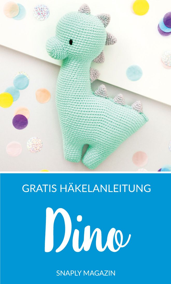 Photo of Gratis Häkelanleitung: Dino | Snaply-Magazin