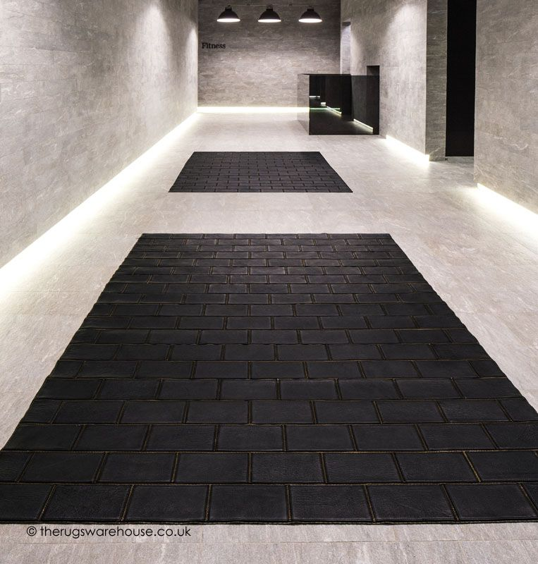 Rockchic Rug A Visually Stunning Designer Black Leather Br Zippers Designed By