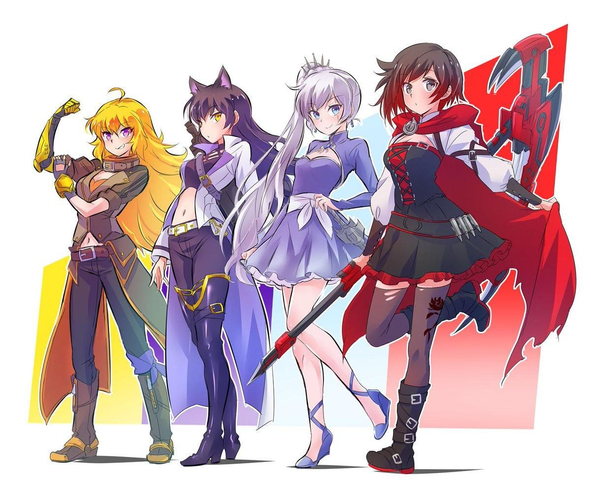 The Whole Team Poses Rwby Rwby Anime Rwby Rwby Characters