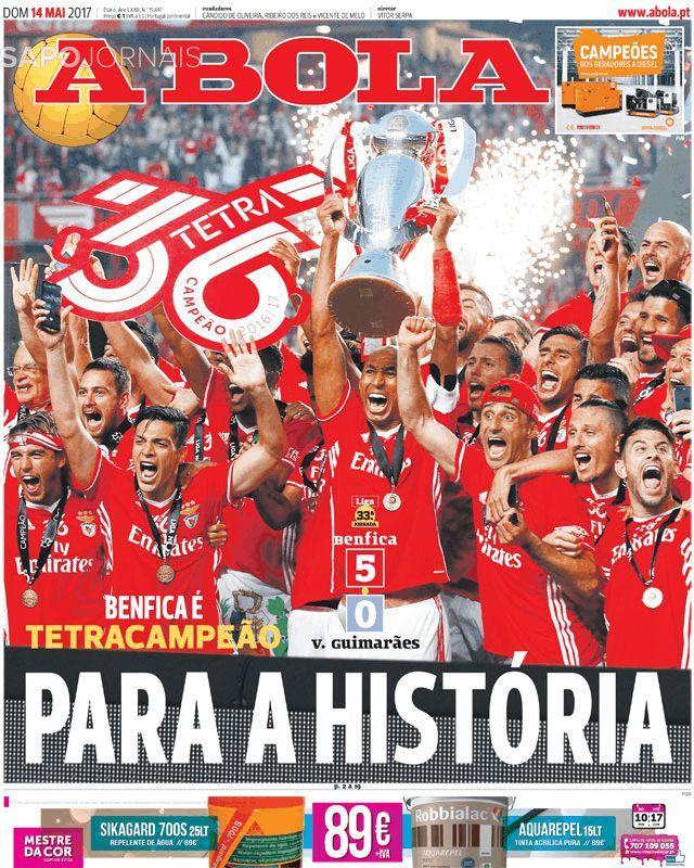 A Bola Sl Benfica Tetracampeao Capa 2017 05 14 Benfica Wallpaper Sport Lisboa E Benfica Bola