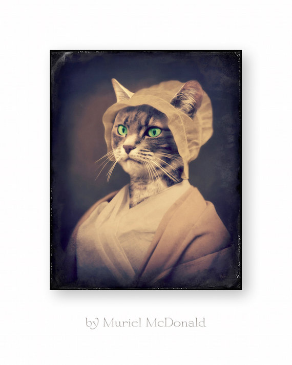 Cat Art Print Anthropomorphic Photography by WatchfulCrowArts