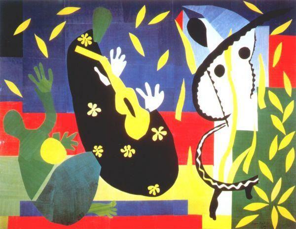 Allora, c'è una cosa che è evidente a tutti: a Matisse qualcuno gli aveva messo in testa la fissa delle chitarre. Anche se è strano a crederci, se si pensa che Matisse visse tra la seconda me…