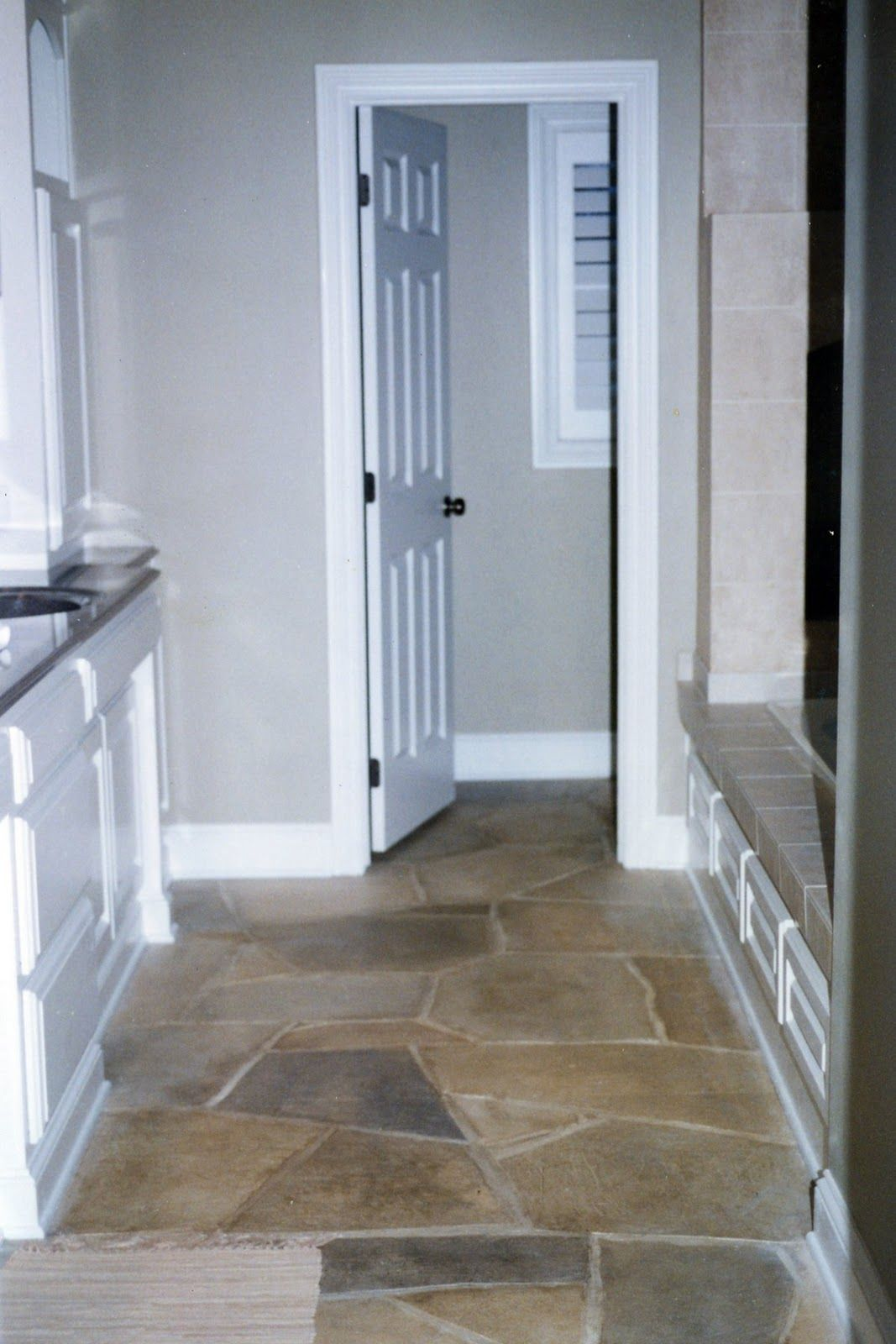 synthetic stone flooring faux