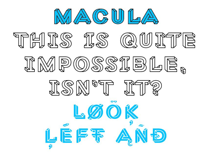Macula The Impossible Typeface  TipografaCaligrafa
