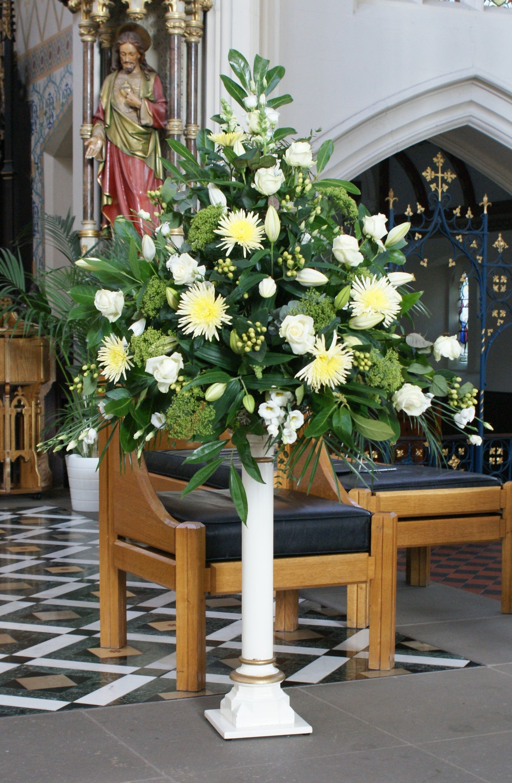 Image Result For Contemporary Pedestal Flower Arrangements Church Flower Arrangements Flower Arrangements Funeral Flower Arrangements