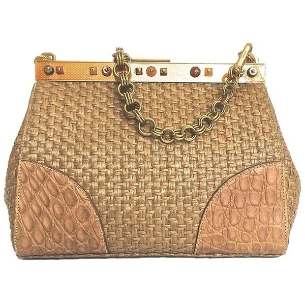 0ecb8cb73667 Pre-owned Prada Stunning With Bronze Hardware And A Frame That Is A ...