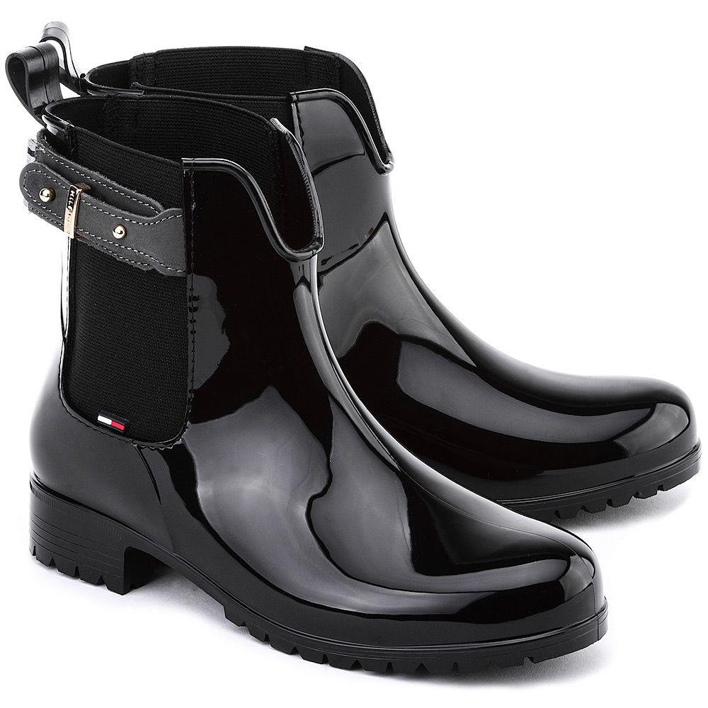 980effb12a283 TOMMY HILFIGER Oxley 6R - Czarne Gumowe Kalosze Damskie  mivo  mivoshoes   shoes