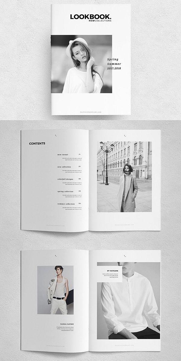 Fashion Lookbook Template#fashion#portfolio#lookbook#brochure#template#indesign