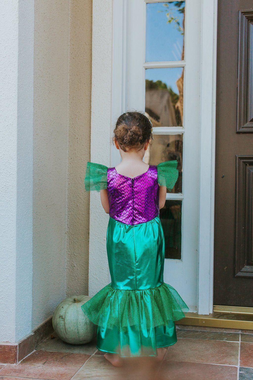 Ariel little mermaid costume party dress ariel wedding