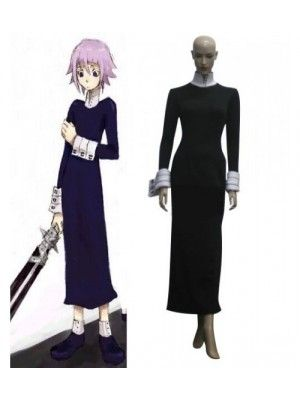 Soul Eater Crona Black Long Dress Halloween Costumes