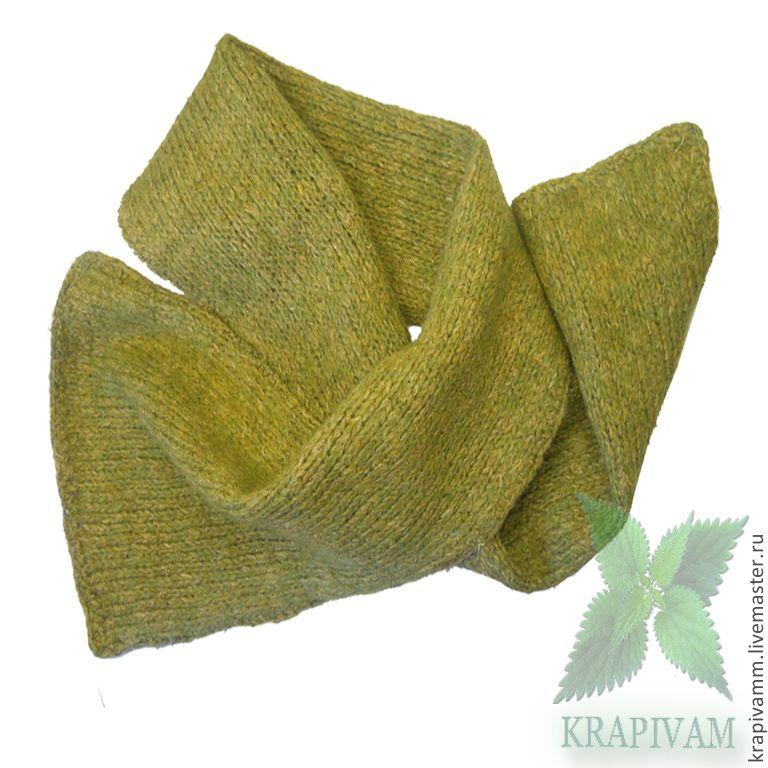 Купить Шарф из крапивы Эко стиль - крапива, крапива двудомная, шарф женский, натуральные материалы