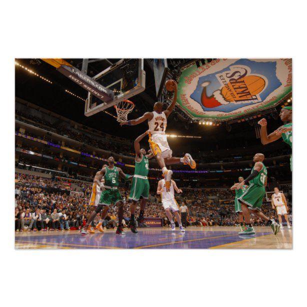 Kobe Bryant | Playing the Boston Celtics Print | Zazzle.com