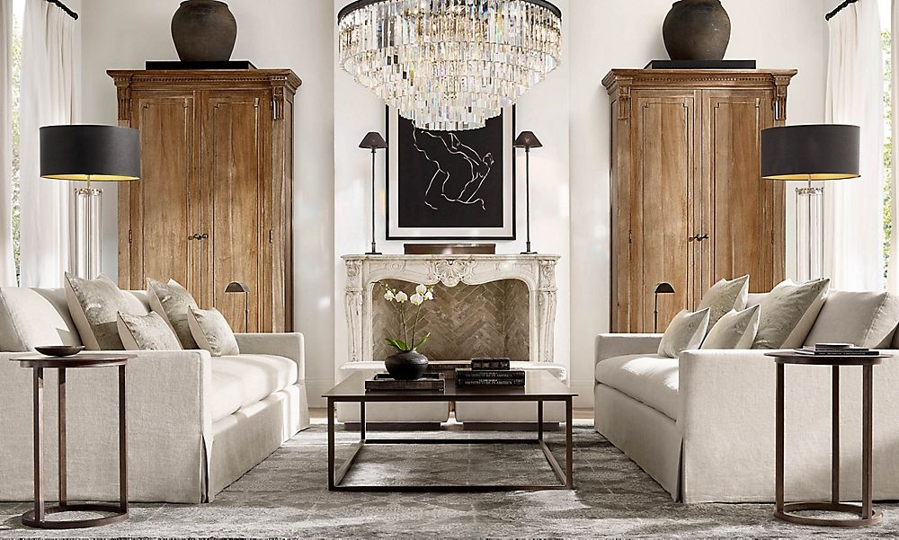 rooms  rh  family room furniture layout livingroom