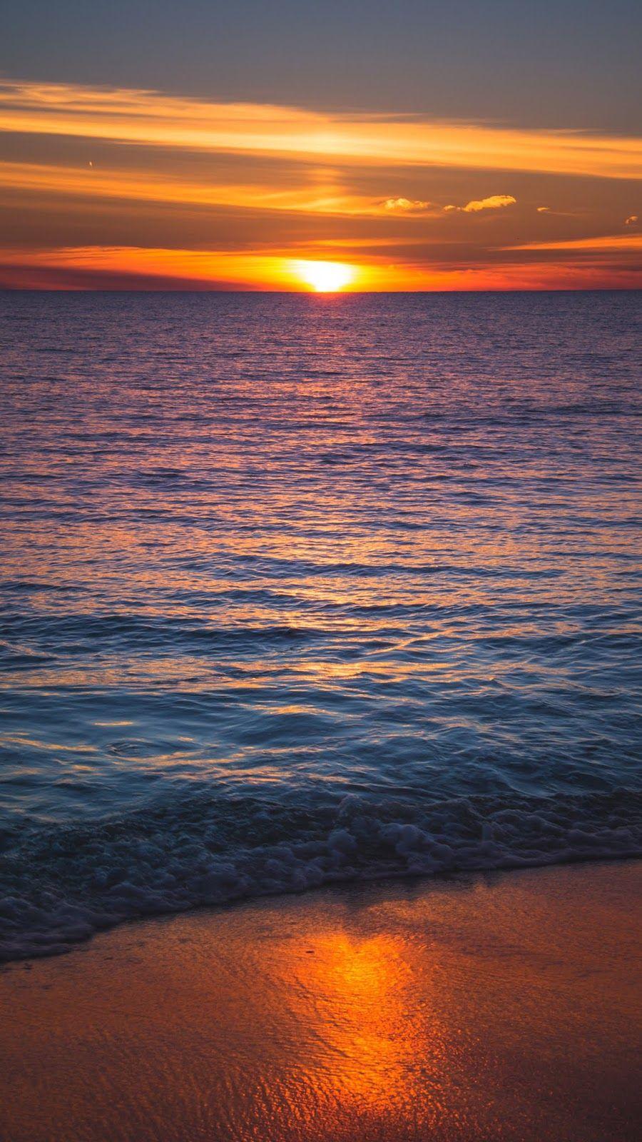 Sunset In The Beach Beach Wallpaper Beautiful Nature Sunset