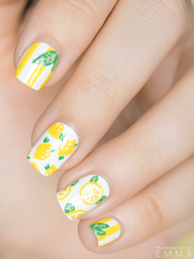 #lemon #nails #nailpolish
