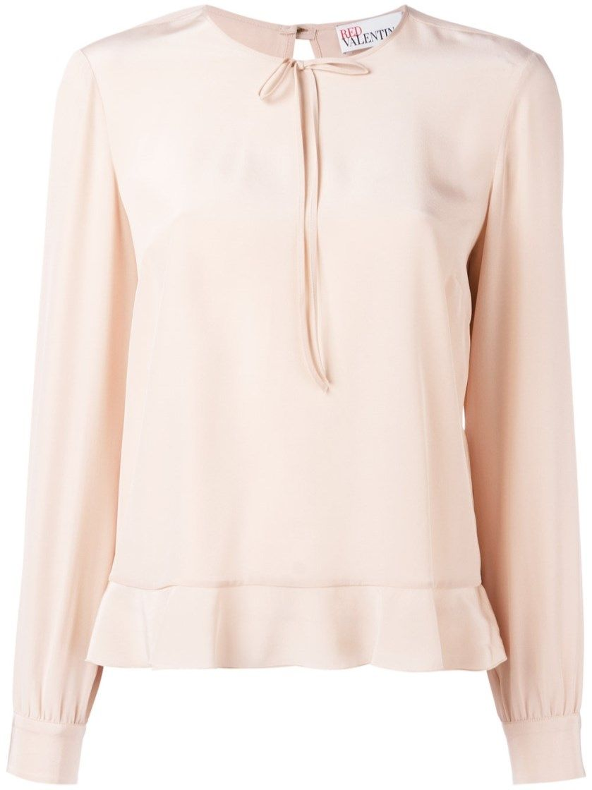 710f925d9d5a6 RED VALENTINO Pink Silk Top.  redvalentino  cloth  tops   t-shirts ...