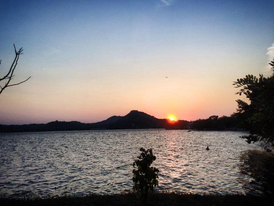 atardecer de el lago de Catemaco  Veracruz México
